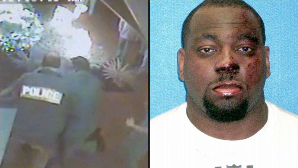 Surveillance video from a Grapevine bar, left, shows a disturbance involving NFL free agent Henry Melton on December 23, 2013.