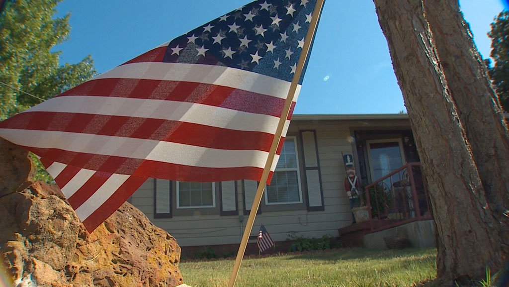 The sight of American flags burned and ripped down from poles belonging to families, mostly with military ties, is angering many in North Texas.