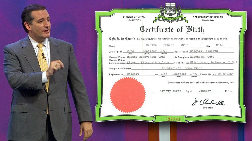 cruz ted certificate wfaa canadian birth citizenship renounce tea favorite story