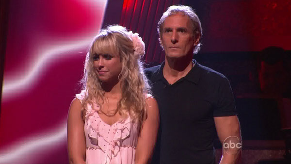 Michael Bolton and his partner Chelsie Hightower were eliminated from the competition on Tuesday night.