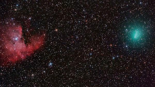 Comet Sky a Comet in The Texas Sky