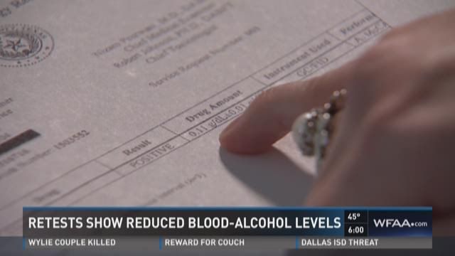 Retests show reduced blood-alcohol levels