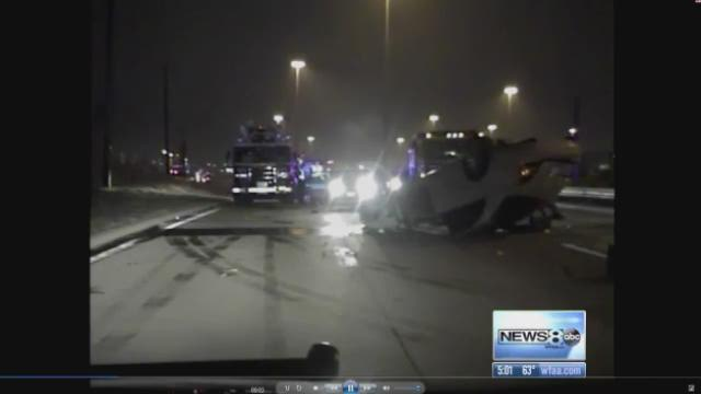 Irving police release dash cam footage, 911 calls from Brent wreck