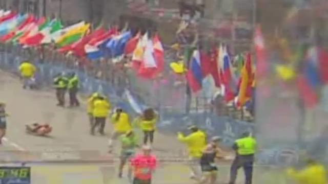 RAW VIDEO Explosion at Boston Marathon