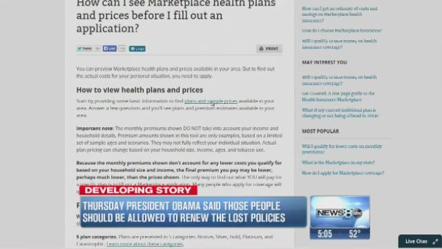 Cassidy: Will Obama be able to reinstate canceled insurance plans?