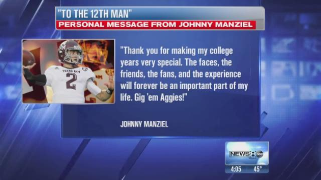 Manziel leaving Texas A&M for NFL draft