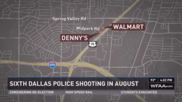 Sixth Dallas police shooting in August.