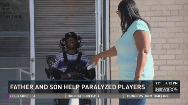 "Chris Canales and his father, Eddie, formed a non-profit group called ""Gridiron Heroes."" It lends a hand to athletes who suffer spinal cord injuries. They joined us on News 8 at 4 to talk more about their mission."