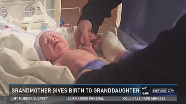 Grandmother gives birth to granddaughter