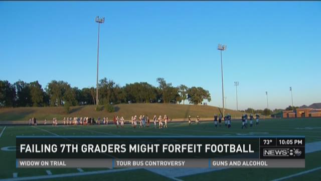Seventh grade student athletes at Crownover Middle School in Corinth are turning in failing grades at an alarming rate.
