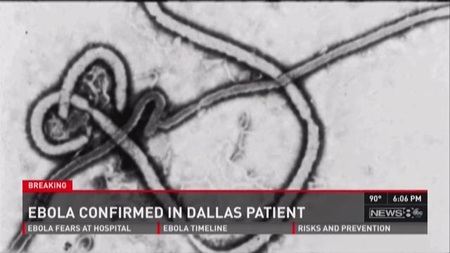 Ebola confirmed in Dallas patient