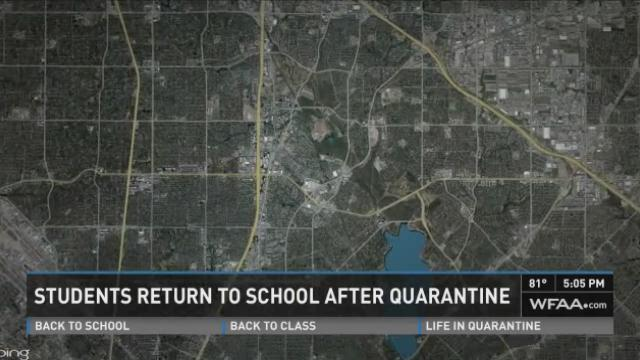 Ebola quarantine ends for Dallas students