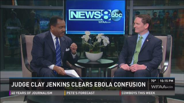 Dallas County Judge Clay Jenkins was the guest on News 8 at 10 p.m. Monday to discuss the county's response to the Ebola crisis.
