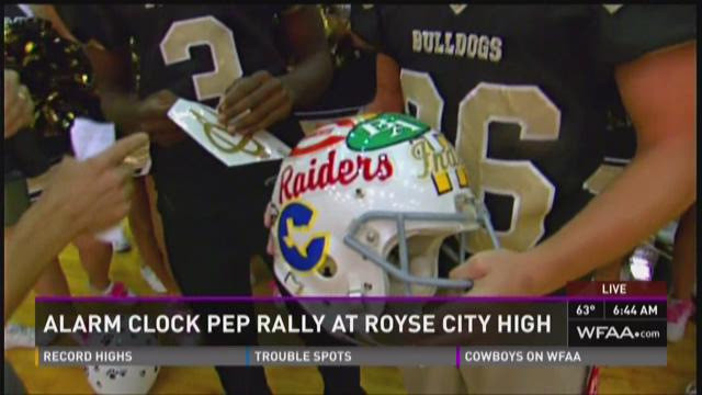 Alarm Clock Pep Rally: Royse City High School