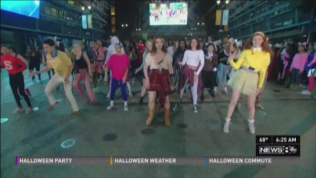 Booker T Washington students show off Halloween moves