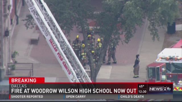 Woodrow Wilson HS fire