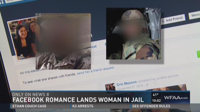 Facebook romance lands woman in jail