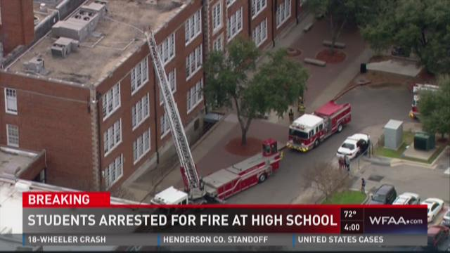 Students arrested for fire at school