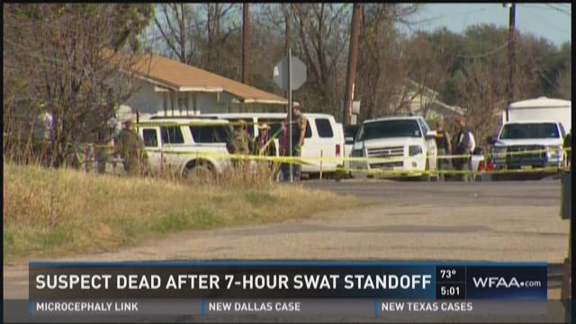 Suspect dead after 7-hour standoff