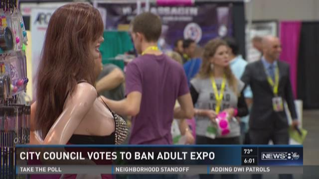 City council votes to ban adult expo