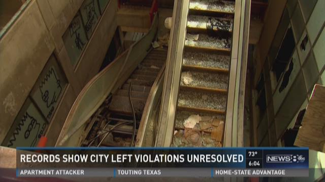 Records show city left violations unresolved