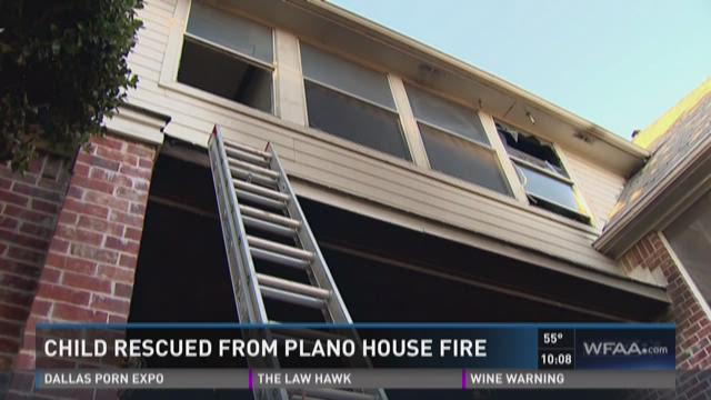 Child rescued from Plano house fire