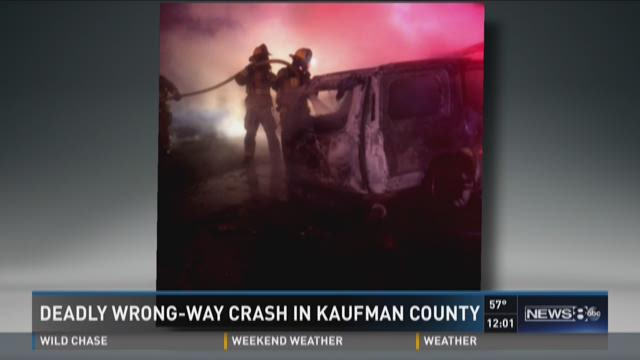 Deadly wrong-way crash in Kaufman County