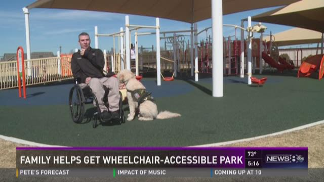 Family helps get wheelchair-accessible park