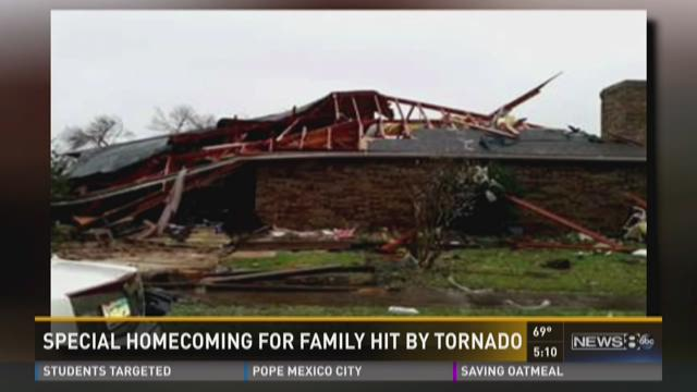 Special homecoming for family hit by tornado