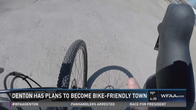 Denton has plans to become bike-friendly town