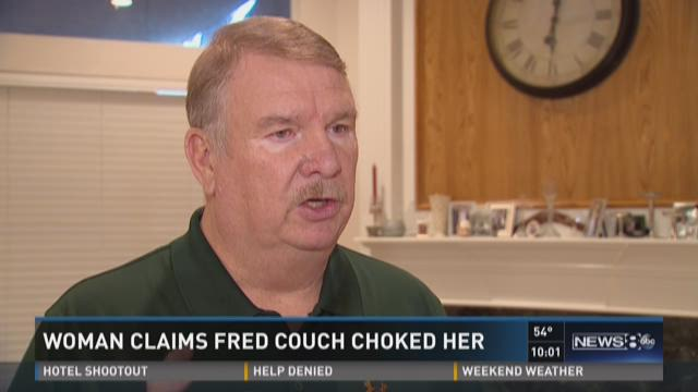 Woman claims Fred Couch choked her