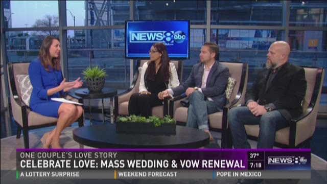 Mass wedding on Valentine's Day