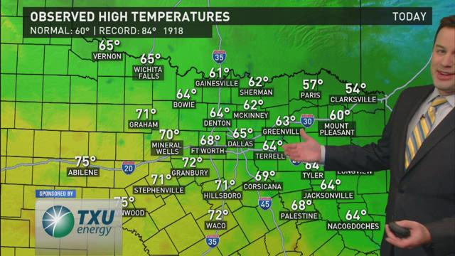 WFAA Evening Weather Update - 2/13/2016