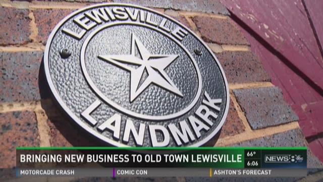 Bringing new business to old town Lewisville