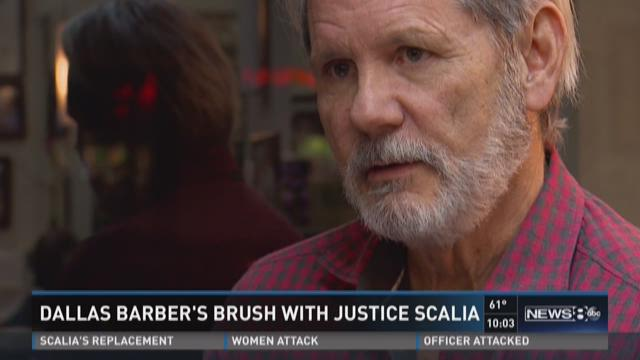 Dallas barbers brush with Justice Scalia