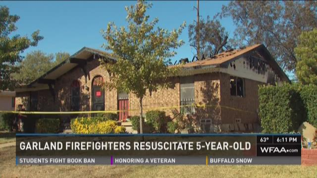Garland firefighters rescue five-year-old