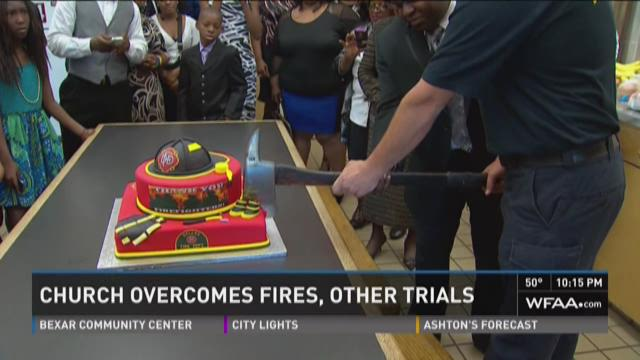 Church overcomes fire, other trials