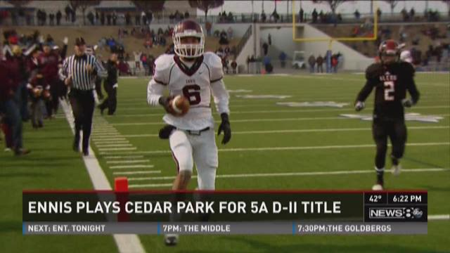 Ennis plays Cedar Park for state title