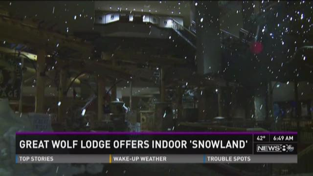 It's snowing at Great Wolf Lodge!