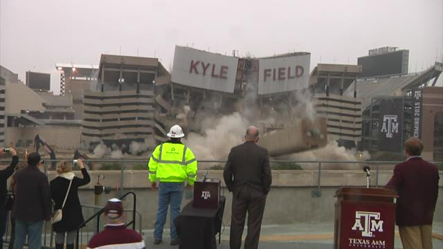 RAW VIDEO: Kyle Field implosion