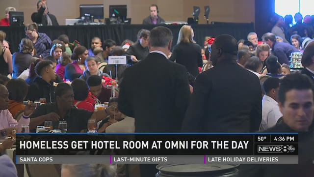 Homeless get hotel room at Omni for day