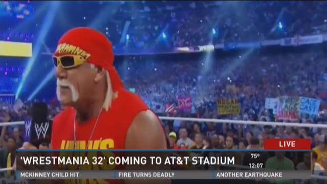 Hulk Hogan at the WrestleMania 32 announcement in Arlington on Jan. 20, 2015.