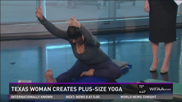 Texas woman creates plus-size yoga