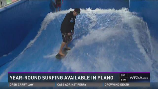 Year-round surfing in Plano