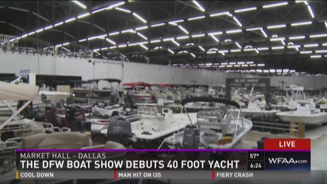 The DFW Boat Show debuts 40-foot yacht