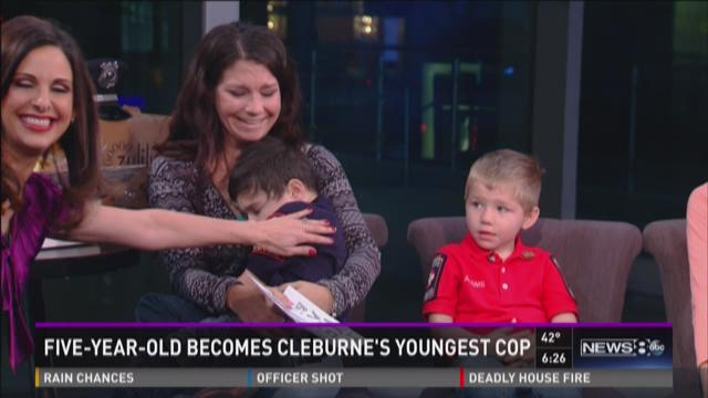 5-year-old boy becomes Cleburne's youngest officer