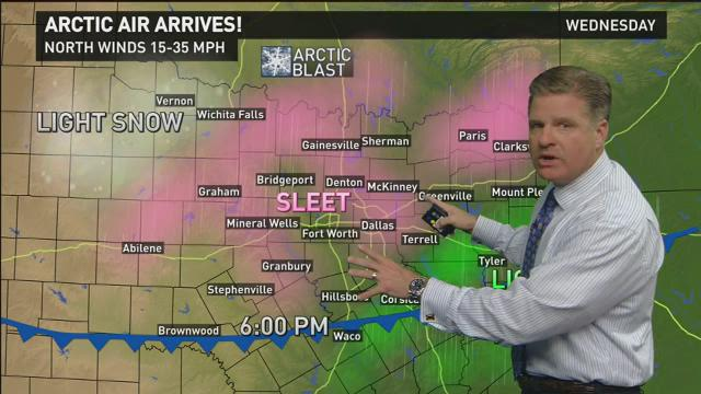 Chief Meteorologist Pete Delkus says we should be bracing for another round of sleet in North Texas.