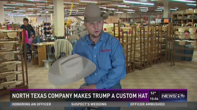 5556cb45c North Texas company makes Trump a custom hat