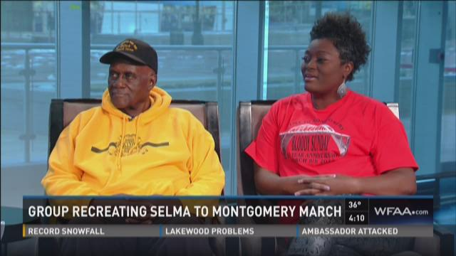 Group recreating Selma to Montgomery march