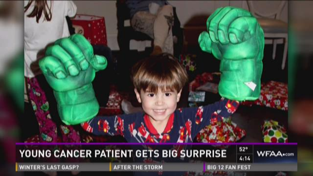 Young cancer patient gets big surprise in University Park